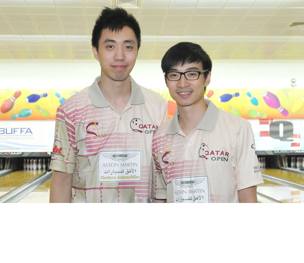 <a class='boldnavtext' href='results/14thqatar-res.htm#Nov26'>Hong Kong nationals make final</a><span class='plaintext'><br><b>26th November, Doha</b>: Hong Kong national bowlers, Michael Mak and Eric Tseng warming up for the World Bowling Championships 2014 in Abu Dhabi made the Step 1 finals of the PBA-World Bowling<br>Tour 14th Qatar Bowling Open.</span>