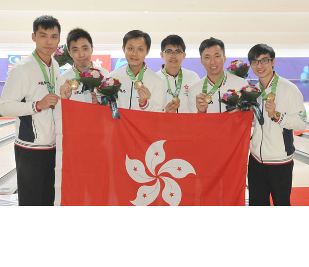 <a class='boldnavtext' href='results/17thasiang-res.htm#TeamBlk2'>Hong Kong team wins bronze</a><span class='plaintext'><br><b>30th September, Anyang, Korea</b>: Hong Kong men team repeated their feat at the last Asian Games<br>after picking up the 5-player Team bronze medal at the 17th Asian Games Incheon 2014 as Korea won the gold and Malaysia clinched the silver.</span>