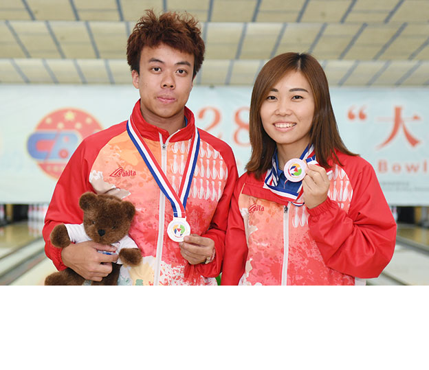 <a class='boldnavtext' href='results/28theac-res.htm#Mstr'>Hong Kong captures Masters gold and bronze</a><span class='plaintext'><br><b>21st September, Yancheng</b>: All Events gold medallist and topseed, James Lui of Hong Kong won his second gold medal at the 28th East Asian Tenpin Bowling Championships with victory in the Men's<br>final while Milki Ng earned the bronze medal in the Women's division.