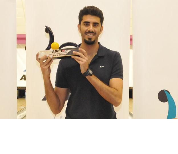 <a class='boldnavtext' href='results/abf-uae14.htm#Day1'>Bahraini wins second tour title</a><span class='plaintext'><br><b>15th October, Dubai</b>: 2011 Asian Championships gold medalist, Yousif Falah of Bahrain won his second tour title after he defeated third-seed, Shaker Al Hassan of UAE, 246-168 in the title match of the ABF Tour UAE 2014.</span>