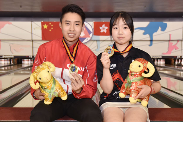<a class='boldnavtext' href='results/asbc2015-res.htm#Step'>Singapore, Korea captures Masters gold</a><span class='plaintext'><br><b>31st July, Hong Kong</b>: Top seed, Kuek Qi En of Singapore A and Kim Dong Yo of Korea A captured the prestigious Boy's and Girl's Masters gold medals of the NTGCC 16th Asian School Tenpin Bowling Championships which concluded on Friday.</span>