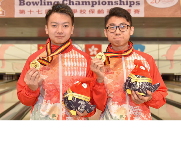 <a class='boldnavtext' href='results/asbc2017-res.htm#Doubles'>A commanding victory for Hong Kong</a><span class='plaintext'><br><b>3rd May, Hong Kong</b>: Alex Yu partnered Ivan Tse to capture Hong Kong's first gold medal at the 17th Asian School Tenpin Bowling Championships with a commanding victory in the Boy's Doubles event while Macau won their first-ever gold medal in the Girl's division.