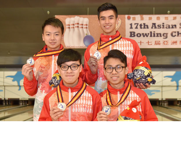 <a class='boldnavtext' href='results/asbc2017-res.htm#Team'>Hong Kong adds two silver medals</a><span class='plaintext'><br><b>4th May, Hong Kong</b>: Hong Kong Team A picked up their second silver medal in the Boy's Team of Four and a third in the Boy's All Events of the 17th Asian School Tenpin Bowling Championships at SCAA Bowling Centre on Thursday.