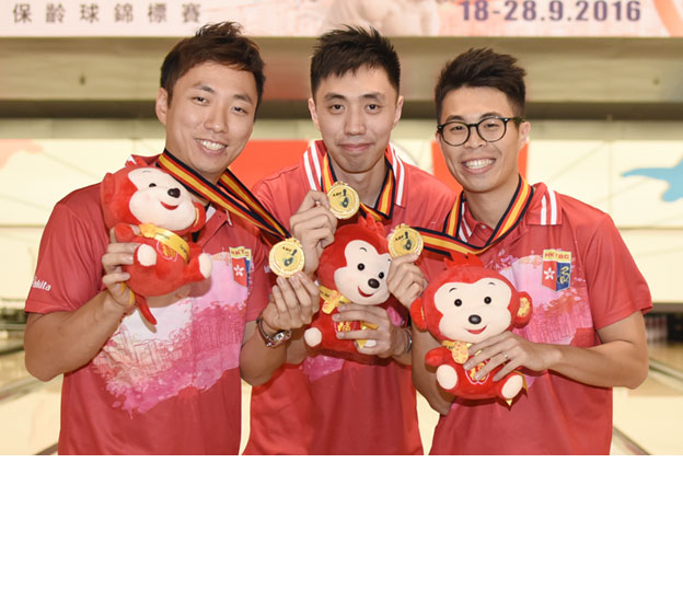 <a class='boldnavtext' href='results/atbc2016-res.htm#Trios'>Hong Kong, Japan seals Trios gold</a><span class='plaintext'><br><b>24th September, Hong Kong</b>: Hong Kong and Japan sealed the Men's and Women's Trios gold medals<br>at the Target 24th Asian Tenpin Bowling Championships as they remained unbeaten after Squad 1 completed their second block of three games.
