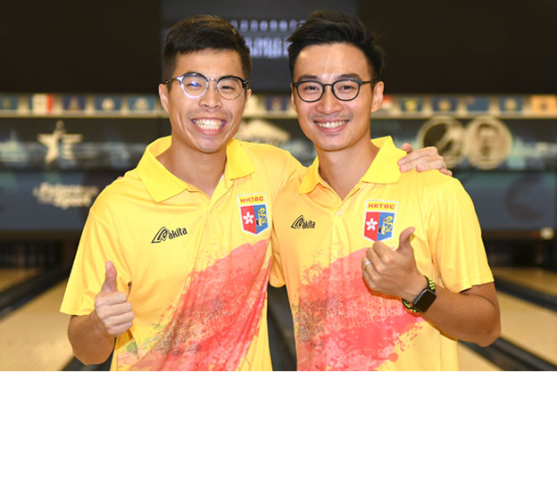 <a class='boldnavtext' href='results/wc2017-res.htm#MODbl'>Hong Kong assured another medal</a><span class='plaintext'><br><b>27th November, Las Vegas</b>: The third pair of Lau Kwun Ho and Eric Tseng assured Hong Kong another medal at the 2017 World Bowling Championships when they qualified for the Men's Doubles<br>Semi-finals after finishing fourth overall in the preliminaries.