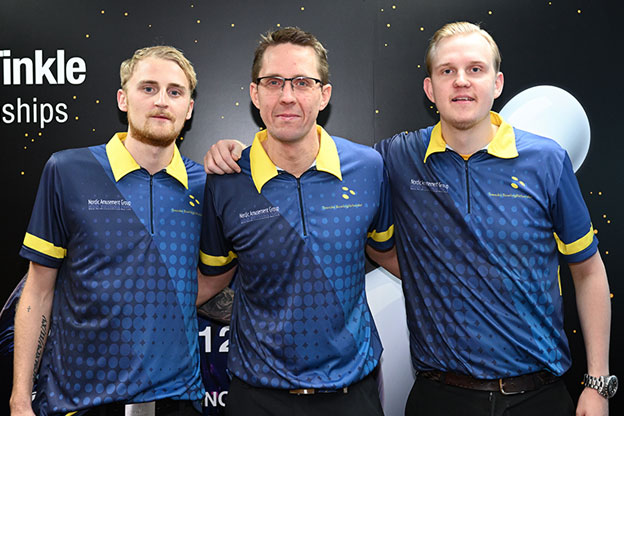 <a class='boldnavtext' href='results/wmc2018-res.htm#TriosSq2'>Sweden takes over lead</a><span class='plaintext'><br><b>29th November, Hong Kong</b>: Swedish trio of Jesper Svensson, Martin Larsen and Mattias Wetterberg took over the lead of the Trios qualifying event of the 2018 CGSE &#149; Million Tinkle World Men Championships after topping the second squad.
