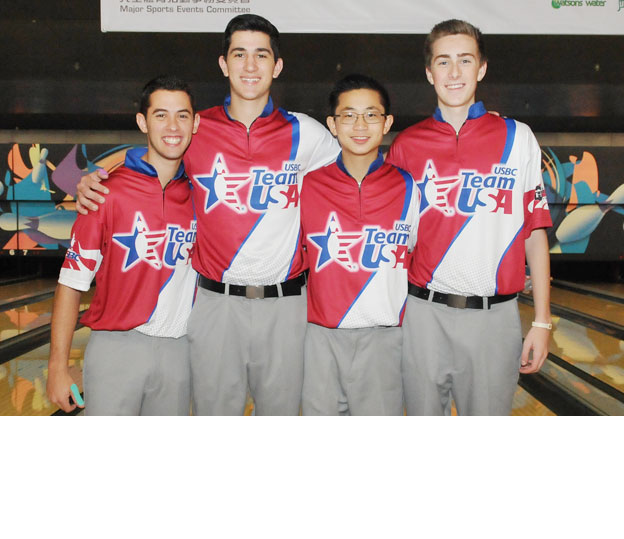 <a class='boldnavtext' href='results/wyc2014-res.htm#TeamSq1'>Americans rule the lanes</a><span class='plaintext'><br><b>12th August, Hong Kong</b>: Team USA continued to rule the lanes at SCAA Bowling Center with the boys leading the opening squad of the 4-player Team events at the CGSE World Youth Championships 2014 after the first block while their girls finished third.</span>