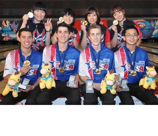 <a class='boldnavtext' href='results/wyc2014-res.htm#TeamFinal'>Japan, USA shares team glory</a><span class='plaintext'><br><b>13th August, Hong Kong</b>: Japan and United States finally captured their first gold medal of the CGSE World Youth Championships 2014 in the Girl's and Boy's Team of 4 final while Wesley Low and Shion Izumune added their second from the All Events.</span>